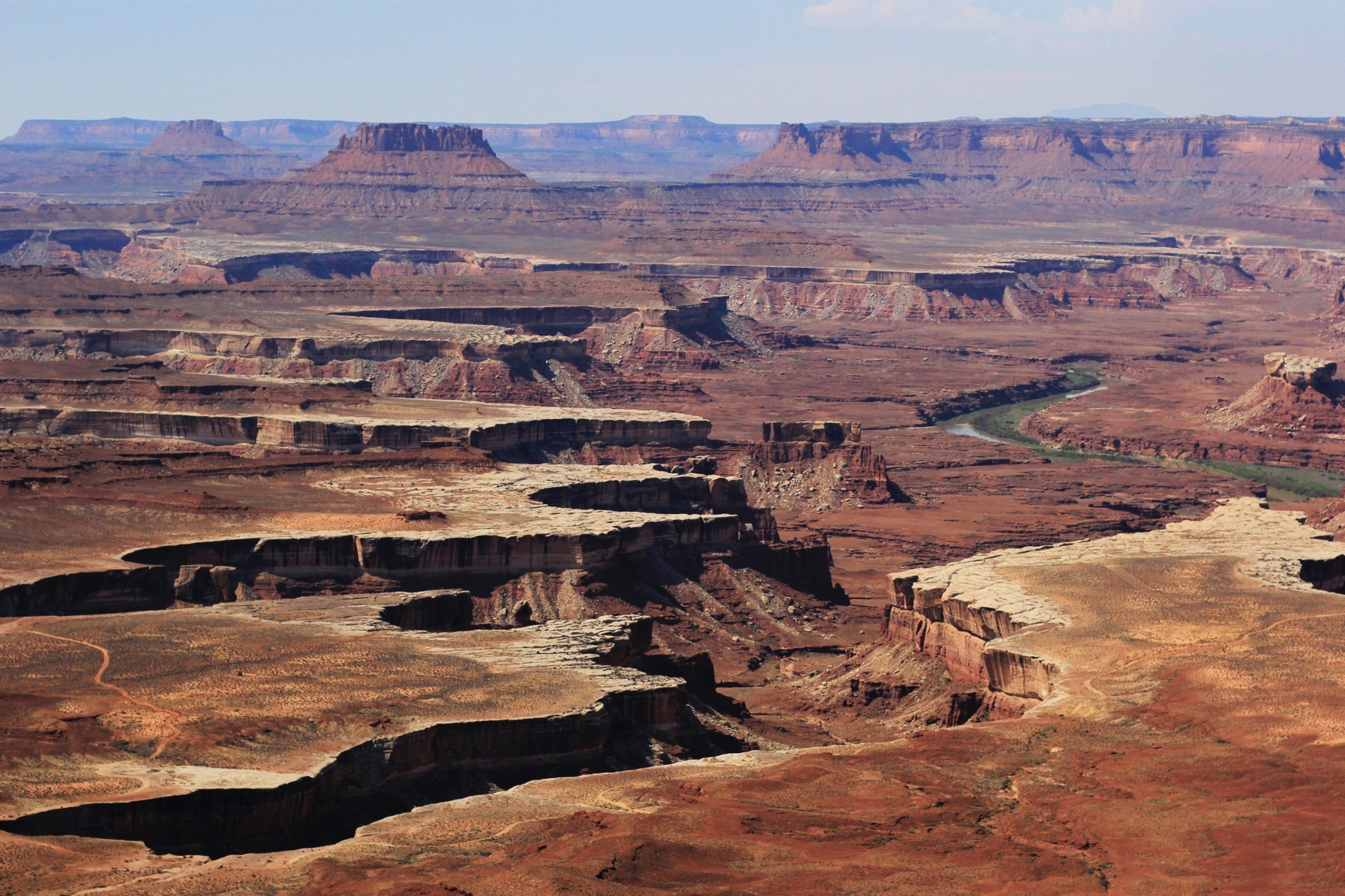 The Green River overlook just a few steps from our campsite (this is the view in the very first picture above, as well)