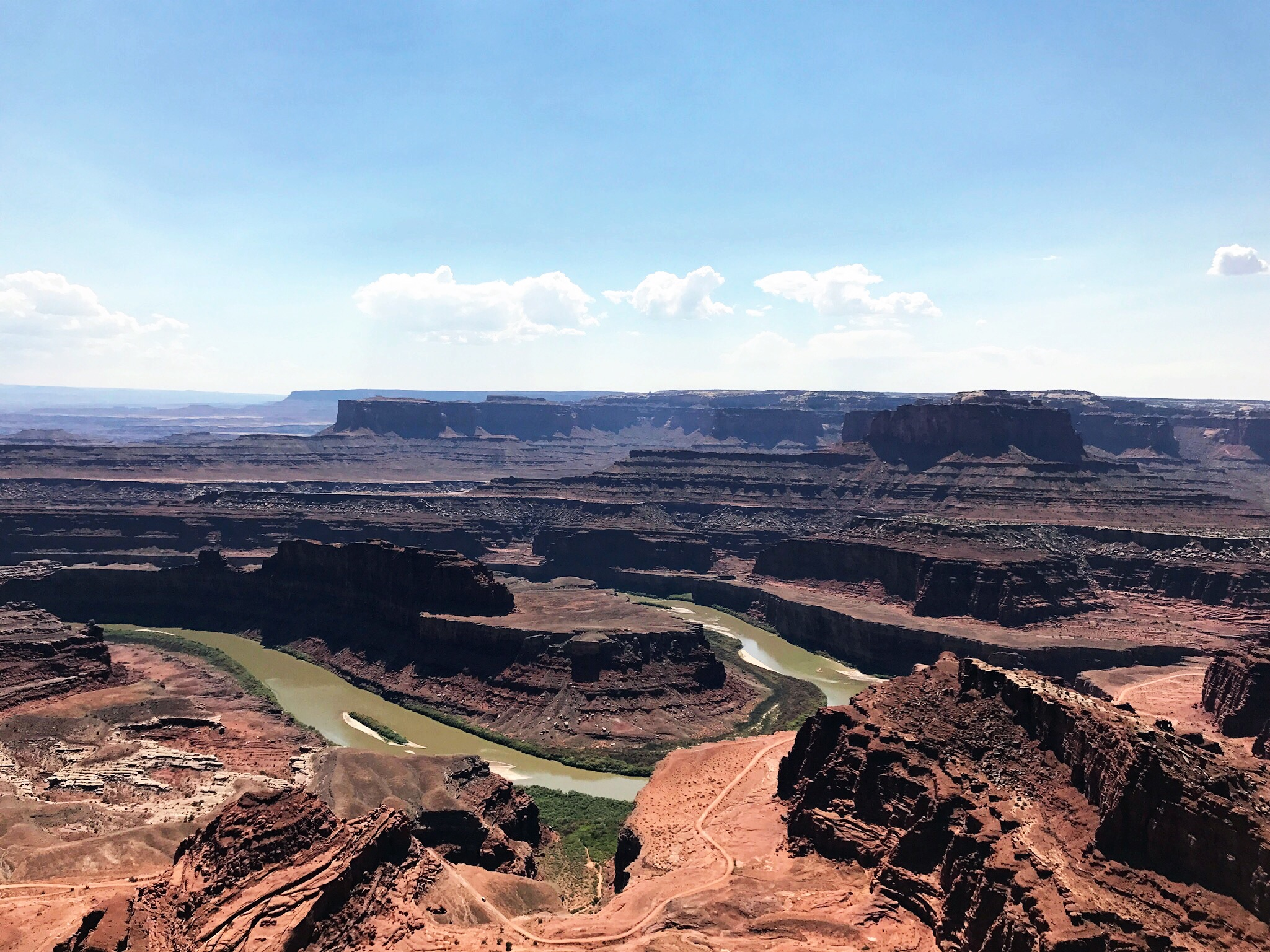 This view is from Dead Horse Point State Park, a short drive away from Canyonlands (I made a note about this above!)