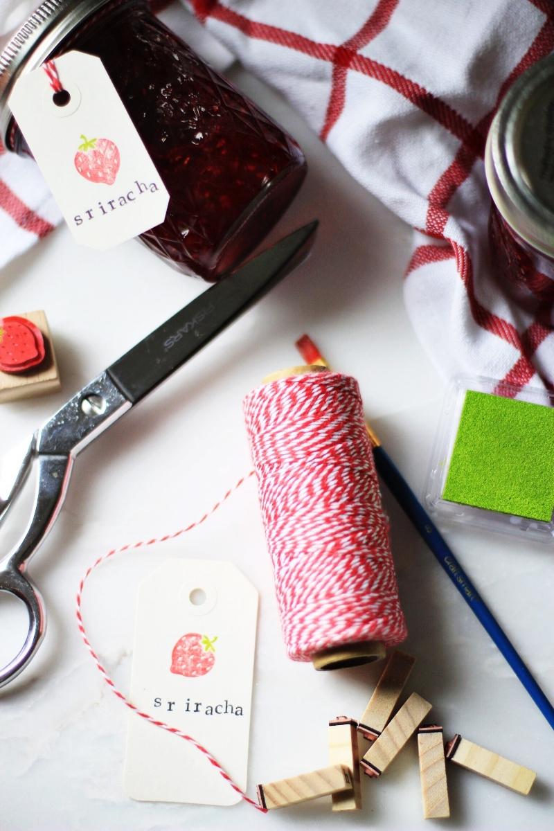 Homemade jam as gift - DIY