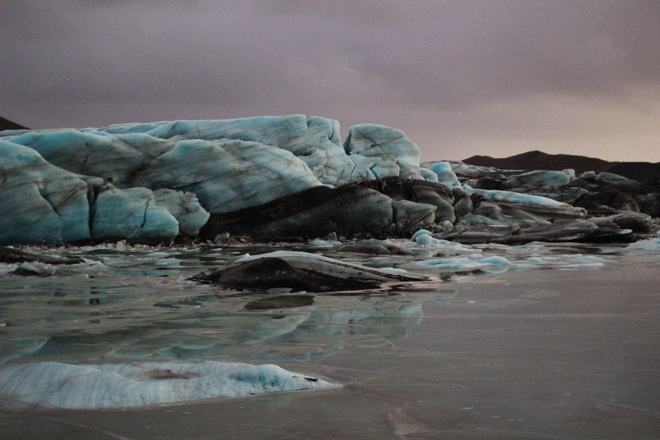 Otherworldly glacier views