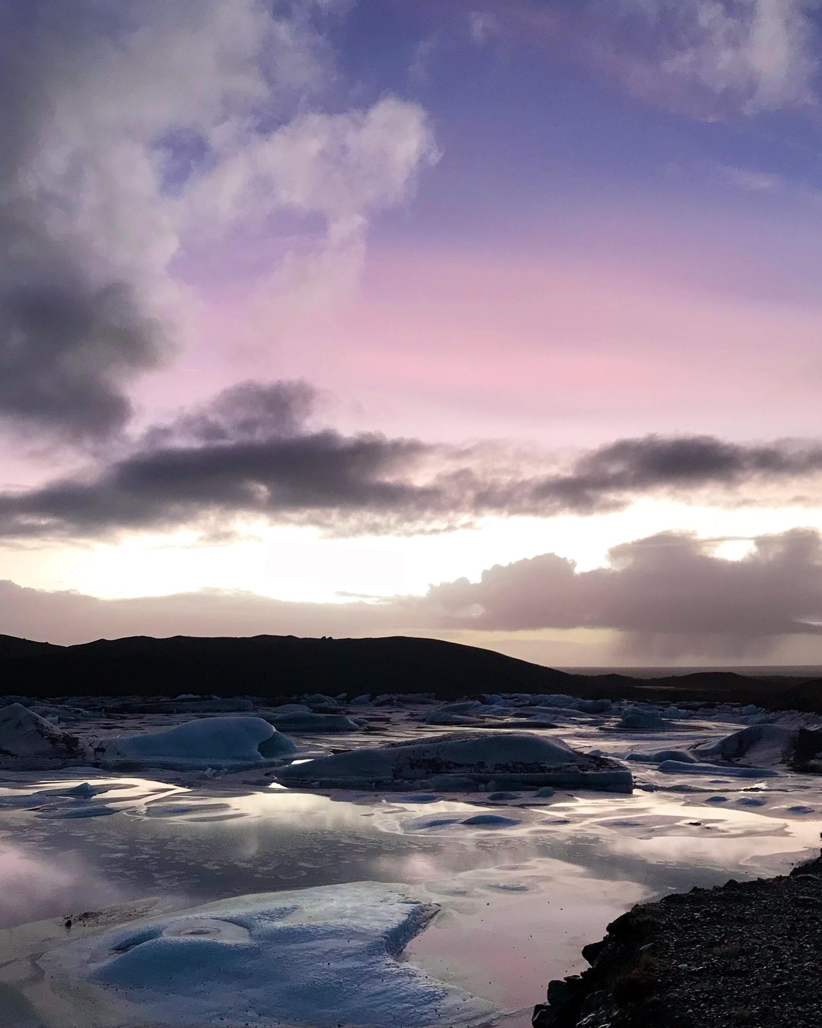 "Glacier ""tongue"" sunset"