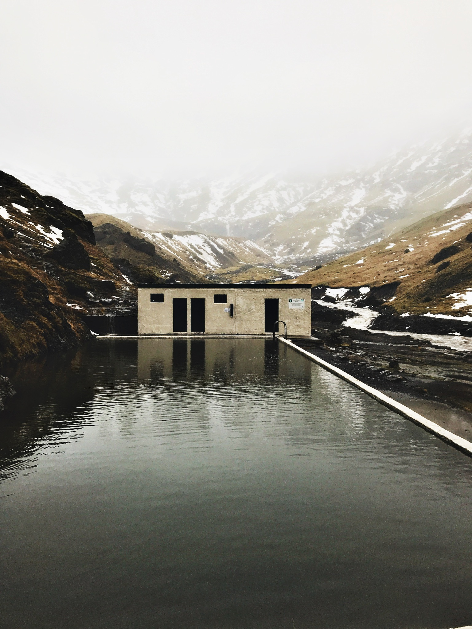 Seljavallalaug hot spring swimming pool