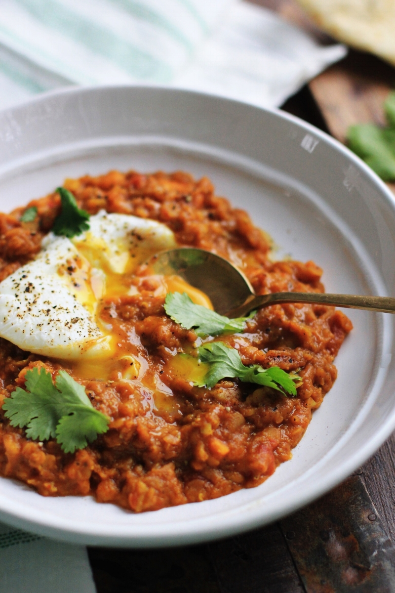 Moroccan lentils and sweet potato