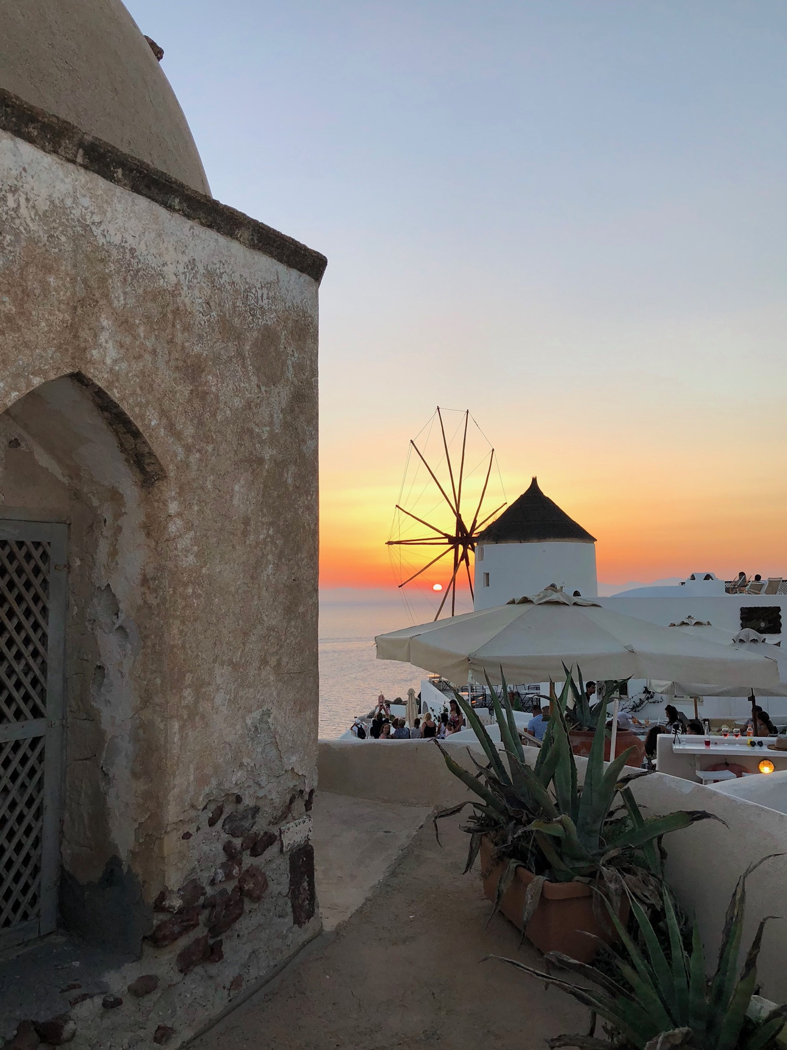 Oia is known for its sunsets