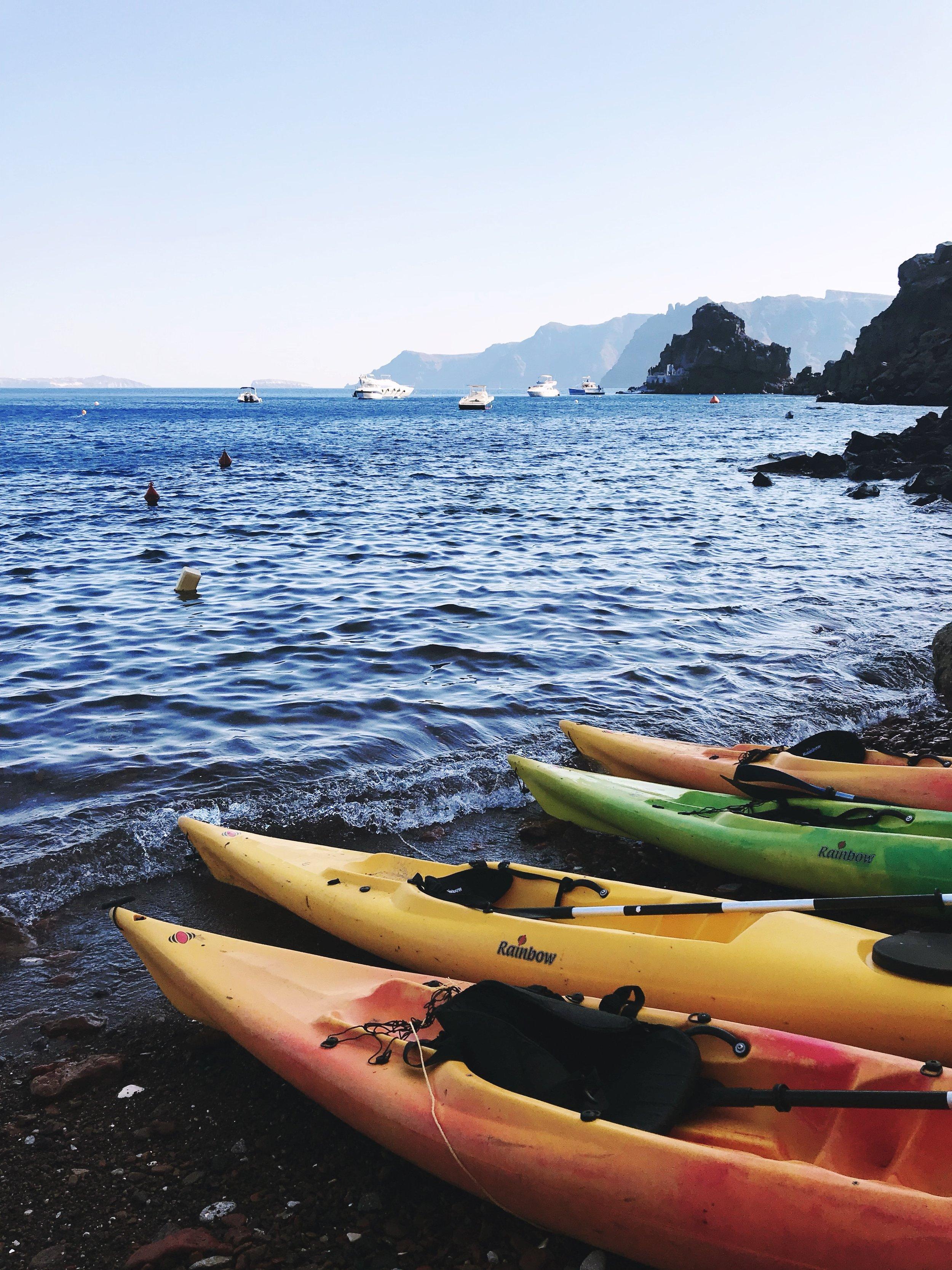 Kayaking in the Mediterranean