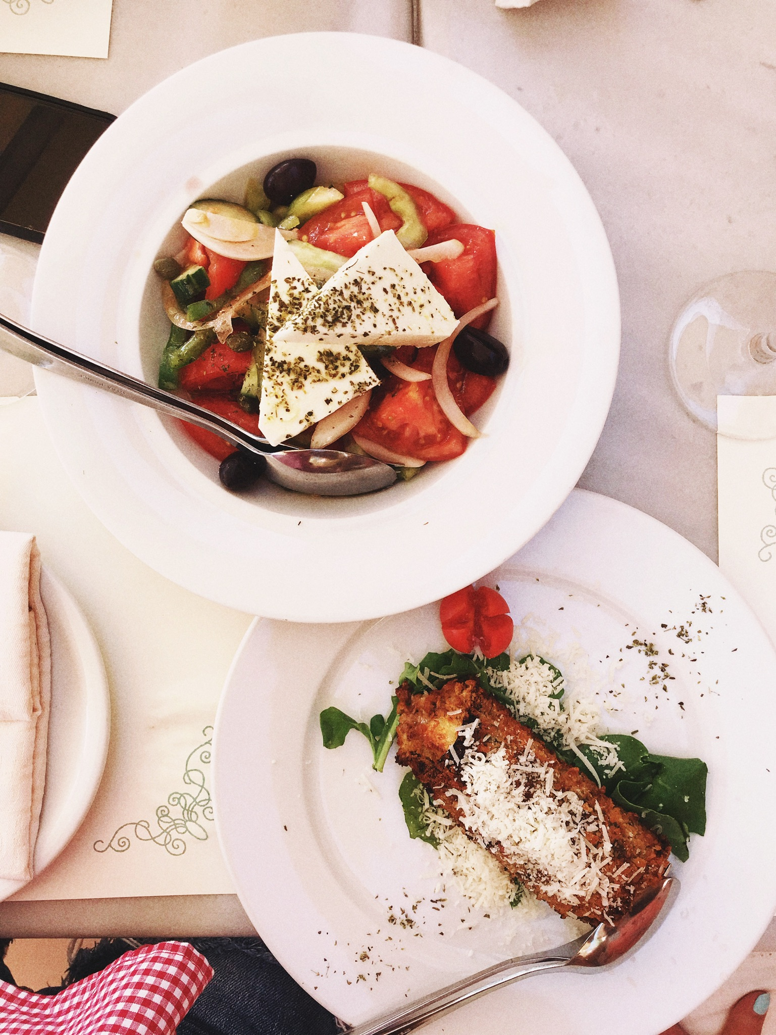And Greek salad with every meal