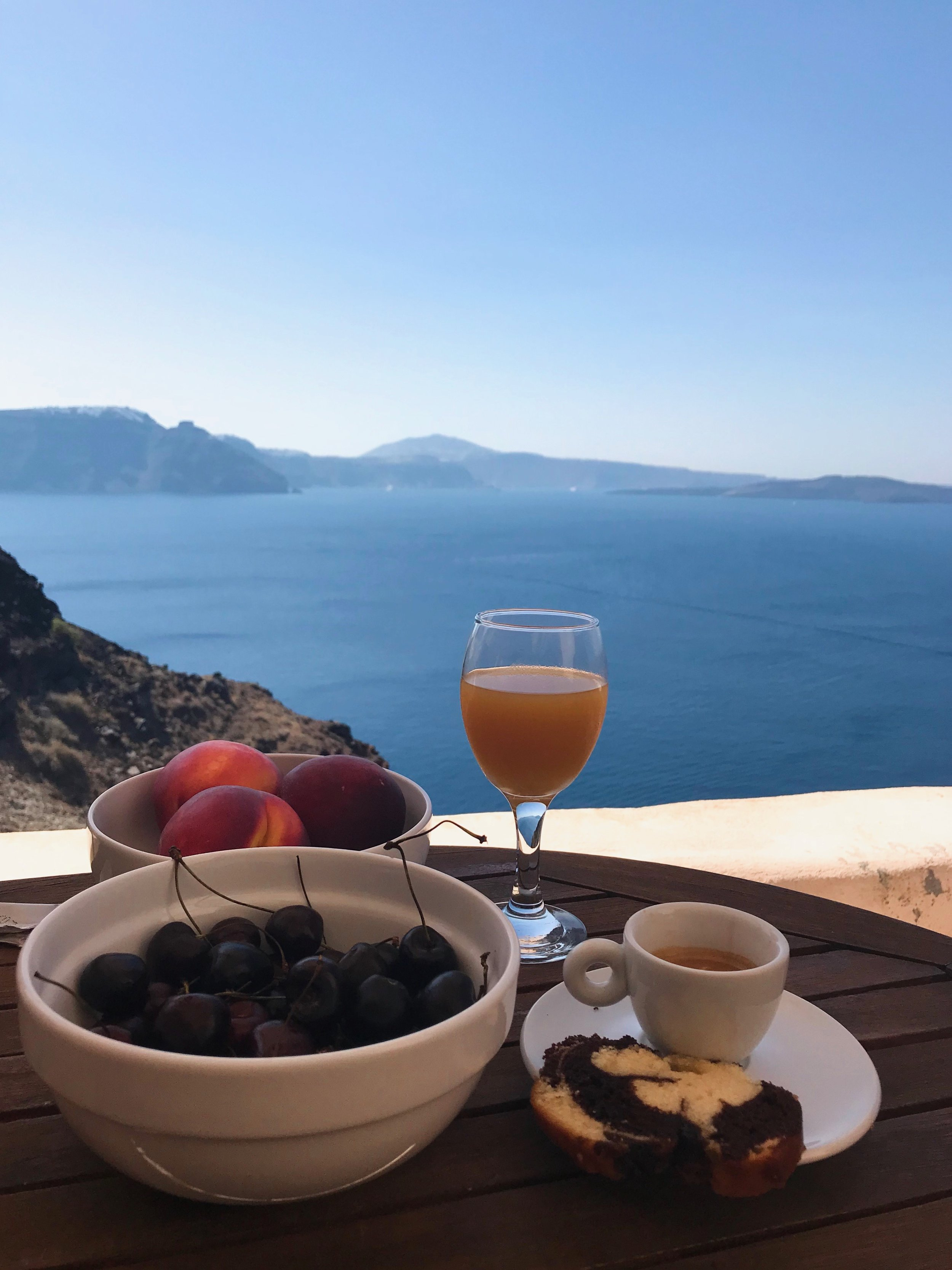 Slow breakfast with a view