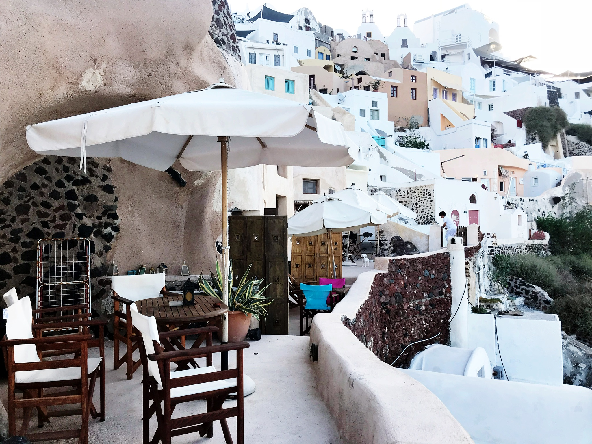 Our patio for a couple nights in Oia