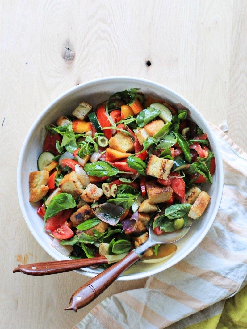 Last-of-summer-tomatoes panzanella salad
