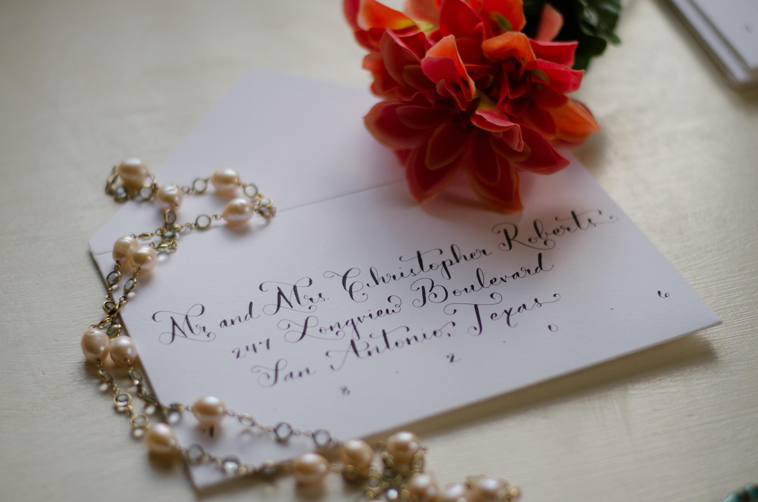 calligrapher calligraphy moderncalligraphy san antonio south texas bride wedding invitations addressing