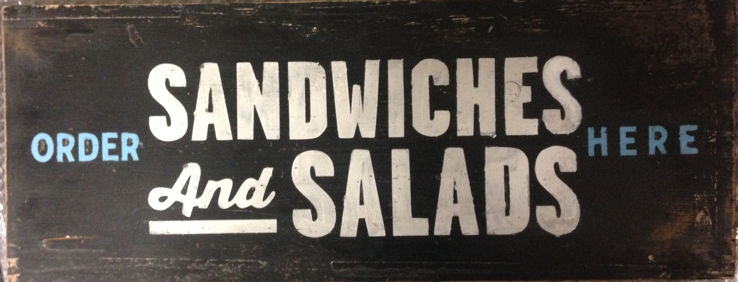 Sandwiches & Salads / Order Here