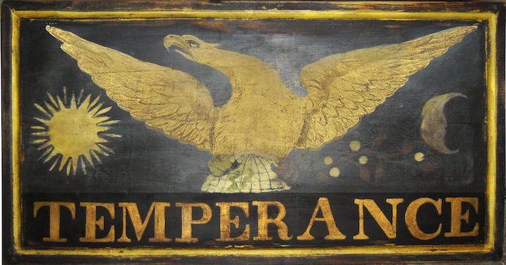 Sign for the Temperance Hotel, c. 1826-42 (Side 2) ex1