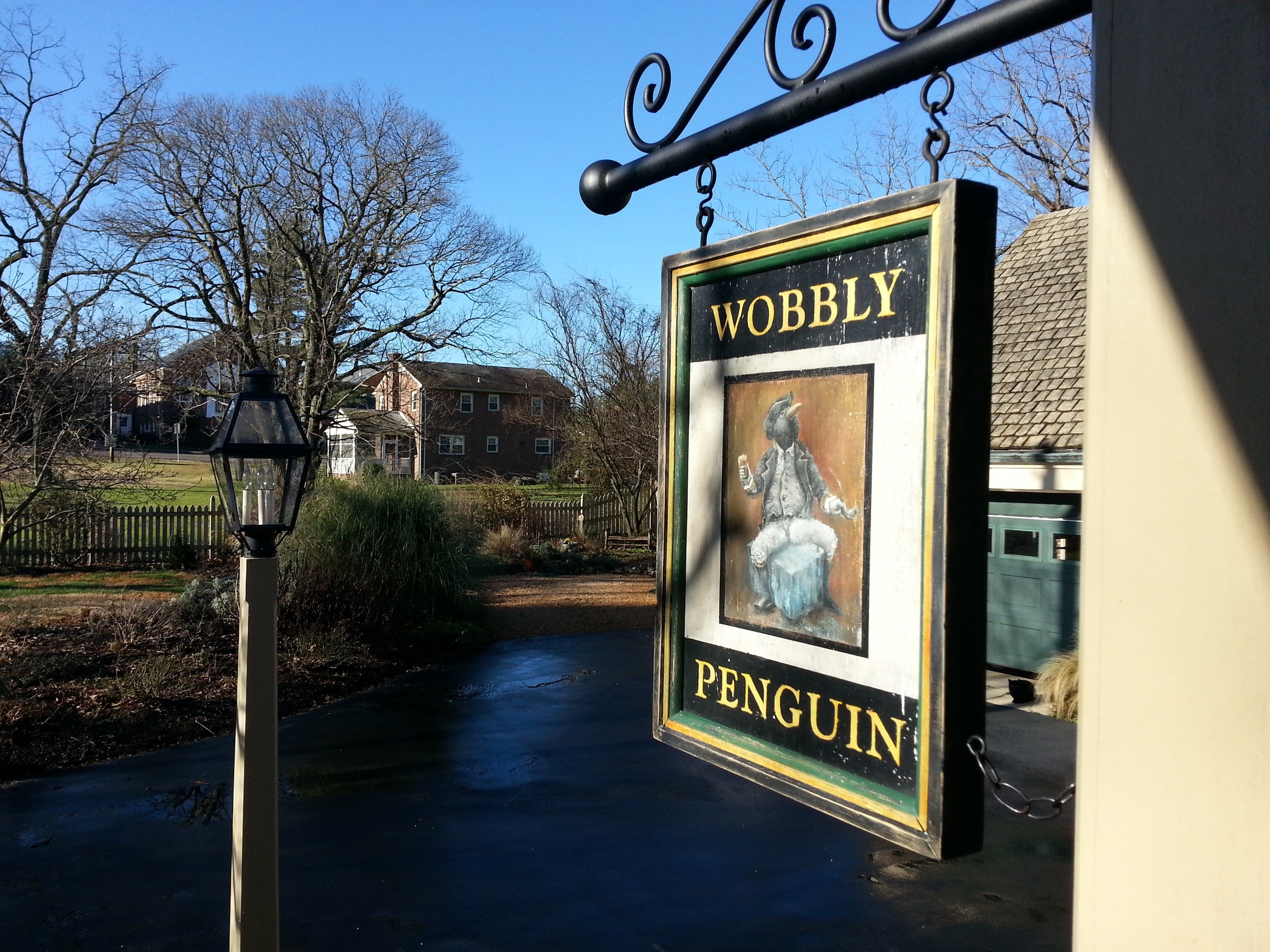 The Wobbly Penguin (front side; in situ)