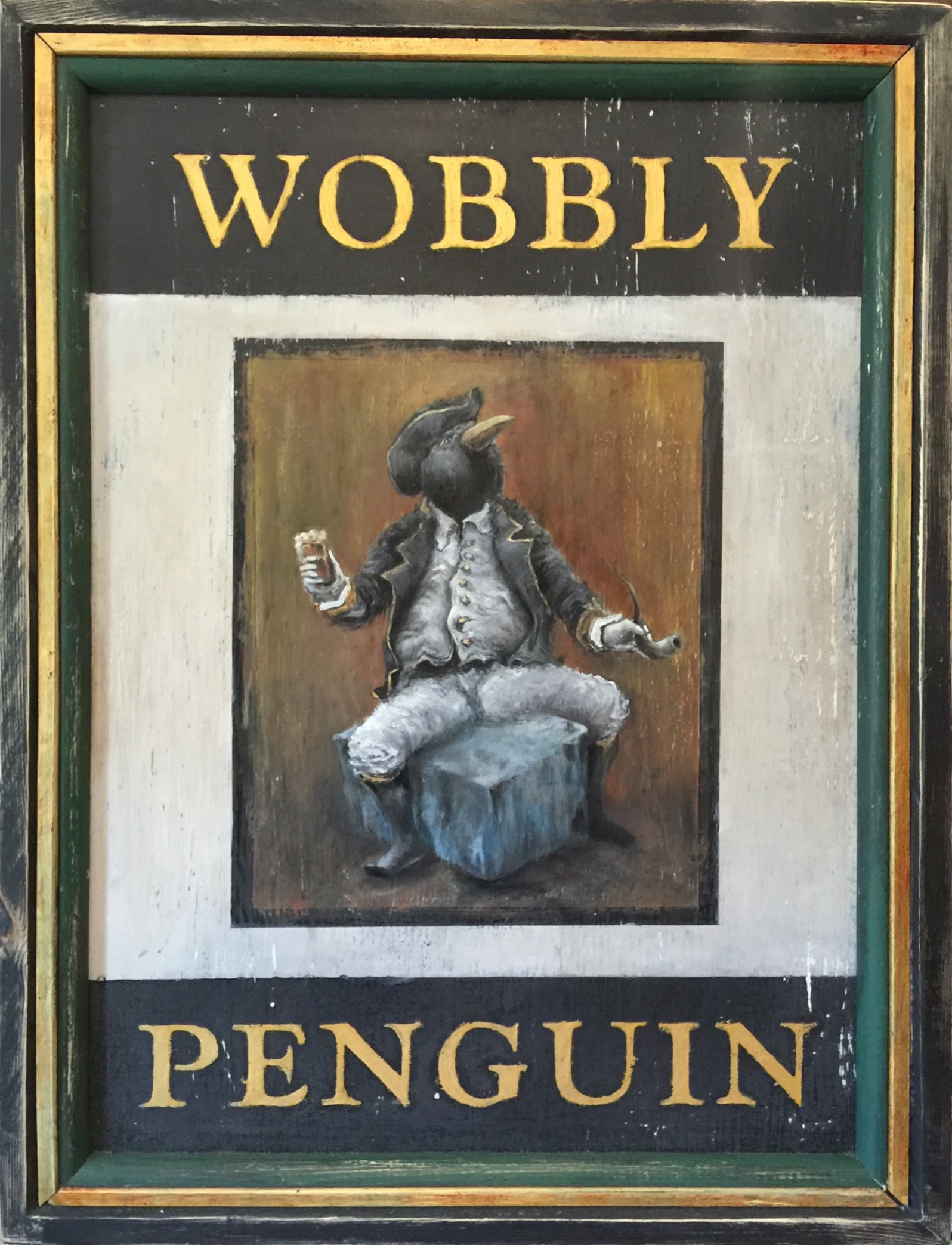 The Wobbly Penguin (front side)