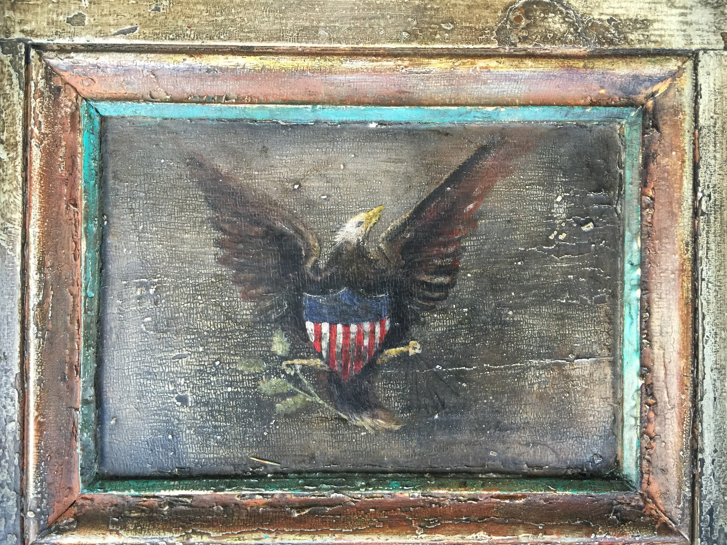 Sign of the Eagle Tavern (panel) - detail