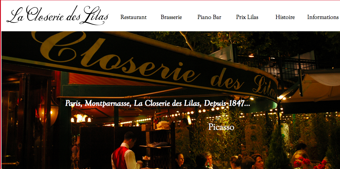 La Closerie des Lilas  (Paris, France)