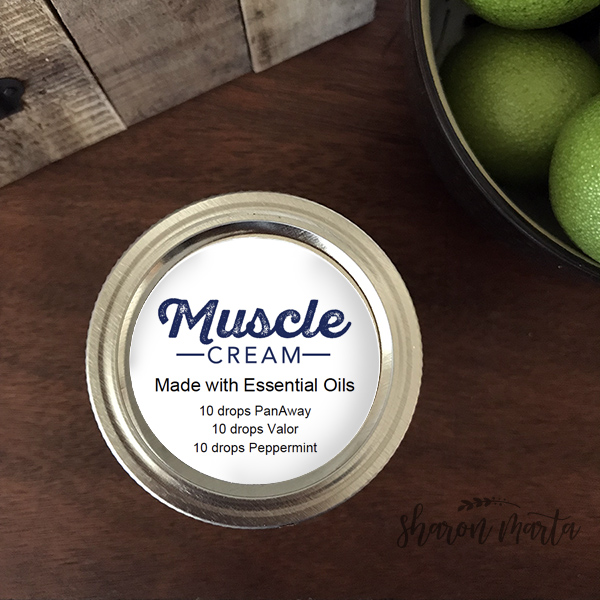 Muscle Relief cream with essential oils