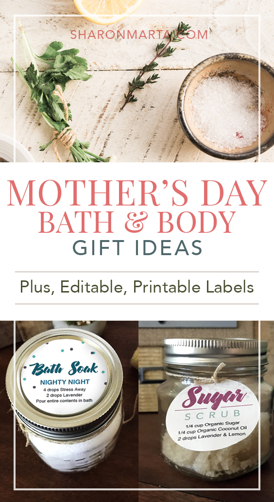 Mother's Day Bath and Body DIY Gift Ideas with essential oils