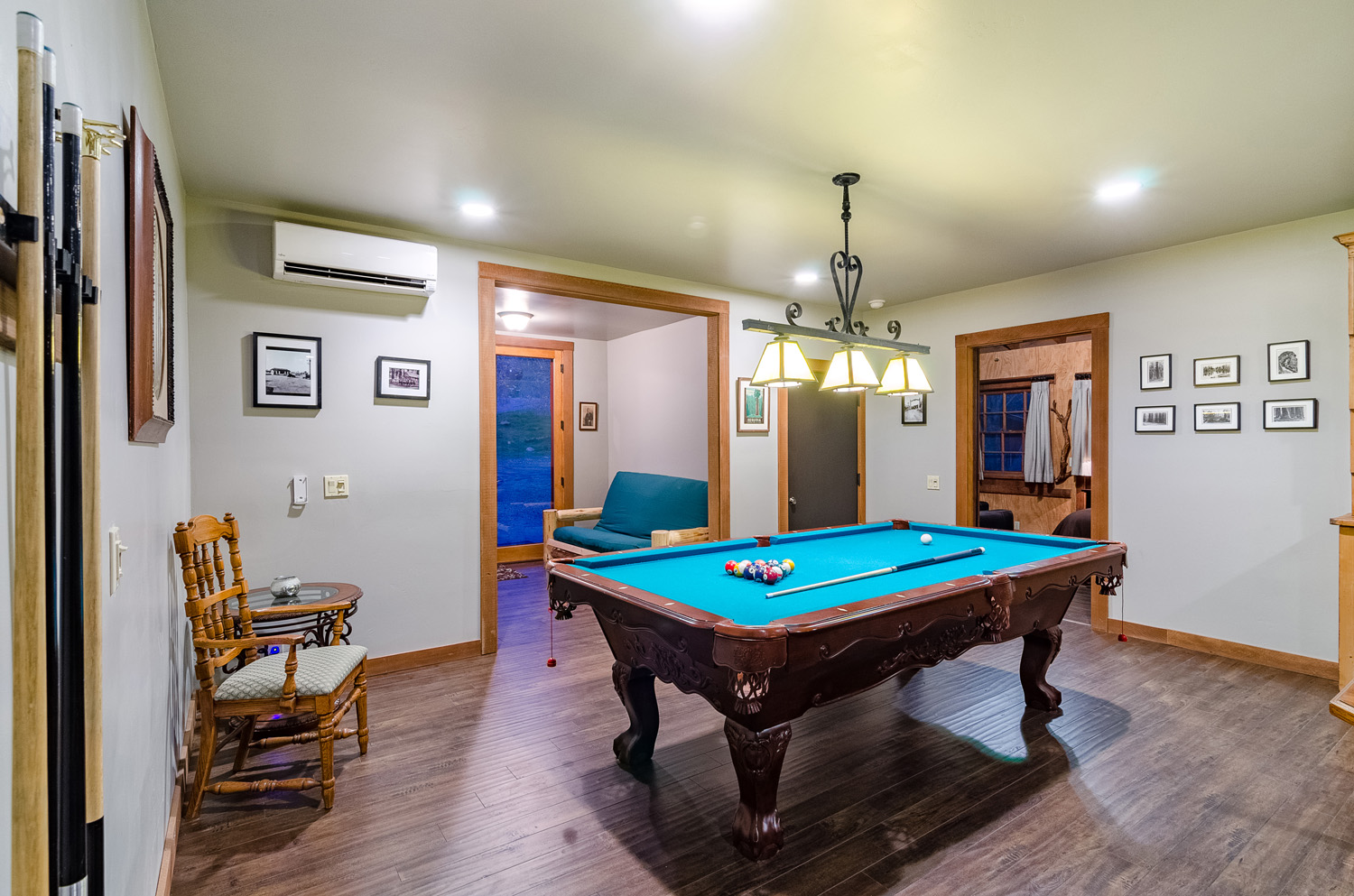 Pool Table Downstairs Living Room