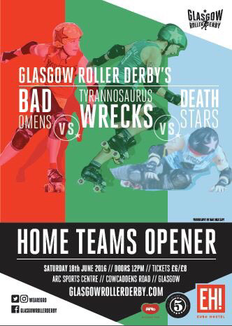 The poster for the Home Teams Season Opener - photos courtesy of Dave McAleavy.