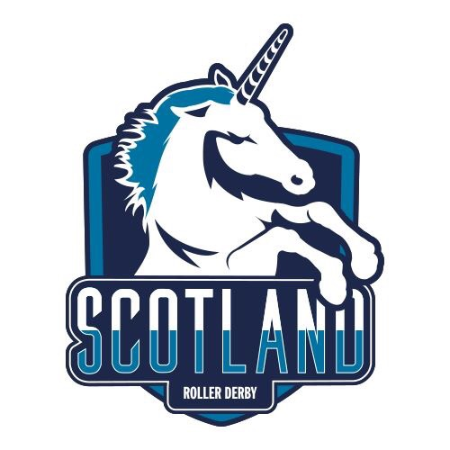 Scotland Roller Derby's shiny new logo, courtesy of Interplanetary Print Syndicate.