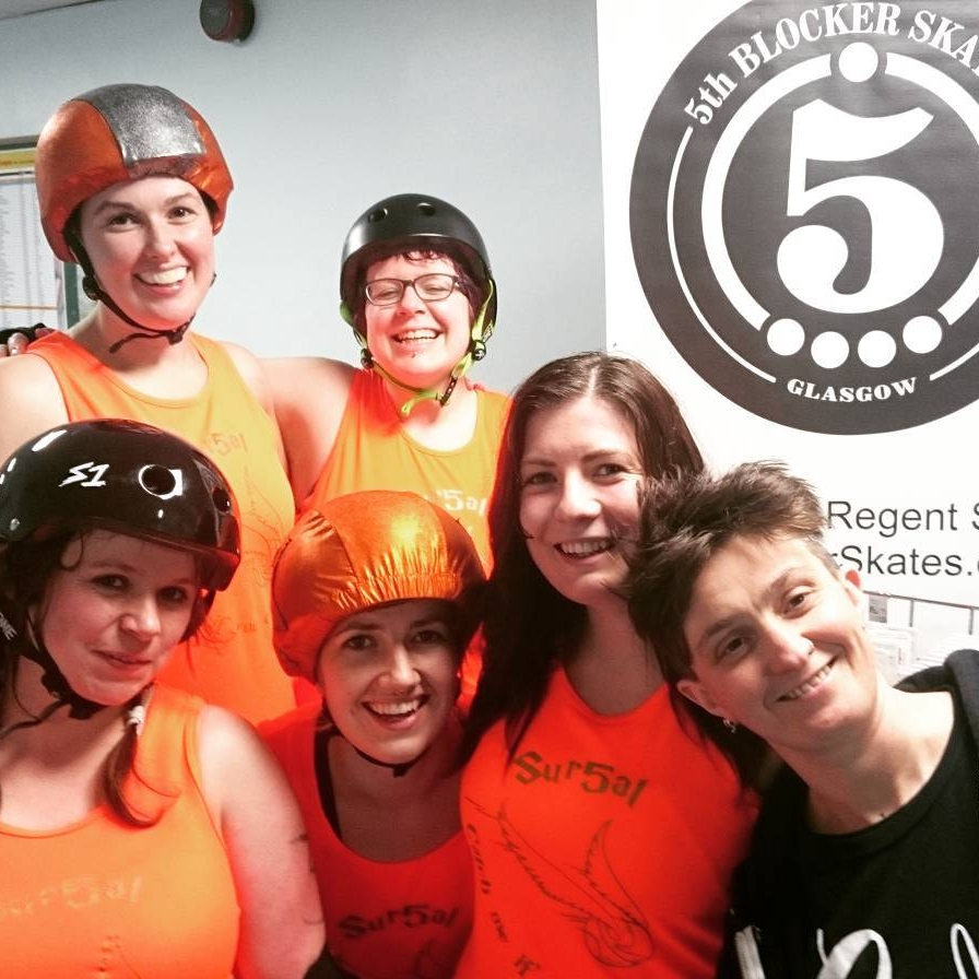 Team Why So Sirius featuring Shona Mercy, Rumbledore, Luna Shovegood, J K Fouling, #Swagrid and GRD's own Lawless, also of 5th Blocker Skates!