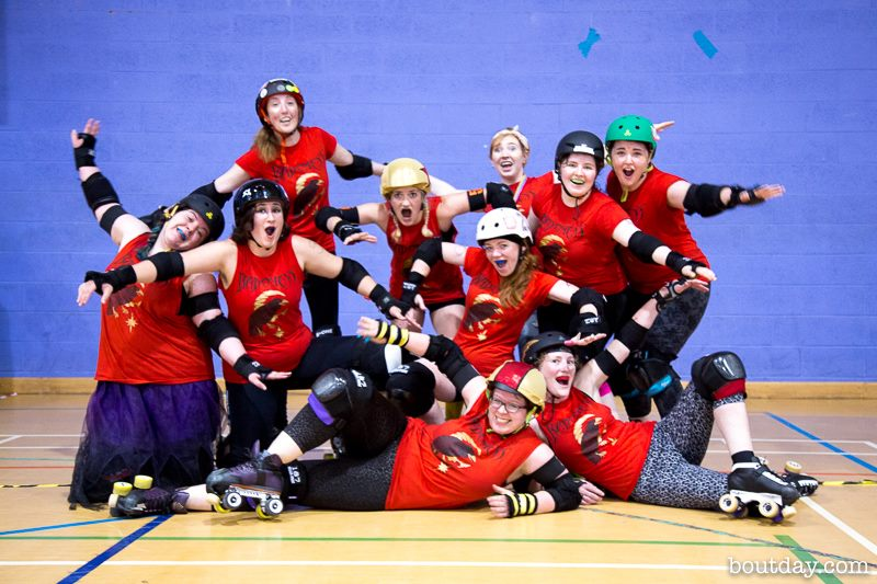 The Bad Omens crowing after winning their game against the Death Stars in October. Photo courtesy of Dave McAleavy of Boutday.com.