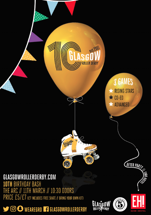 Game poster for our 10th Birthday event.