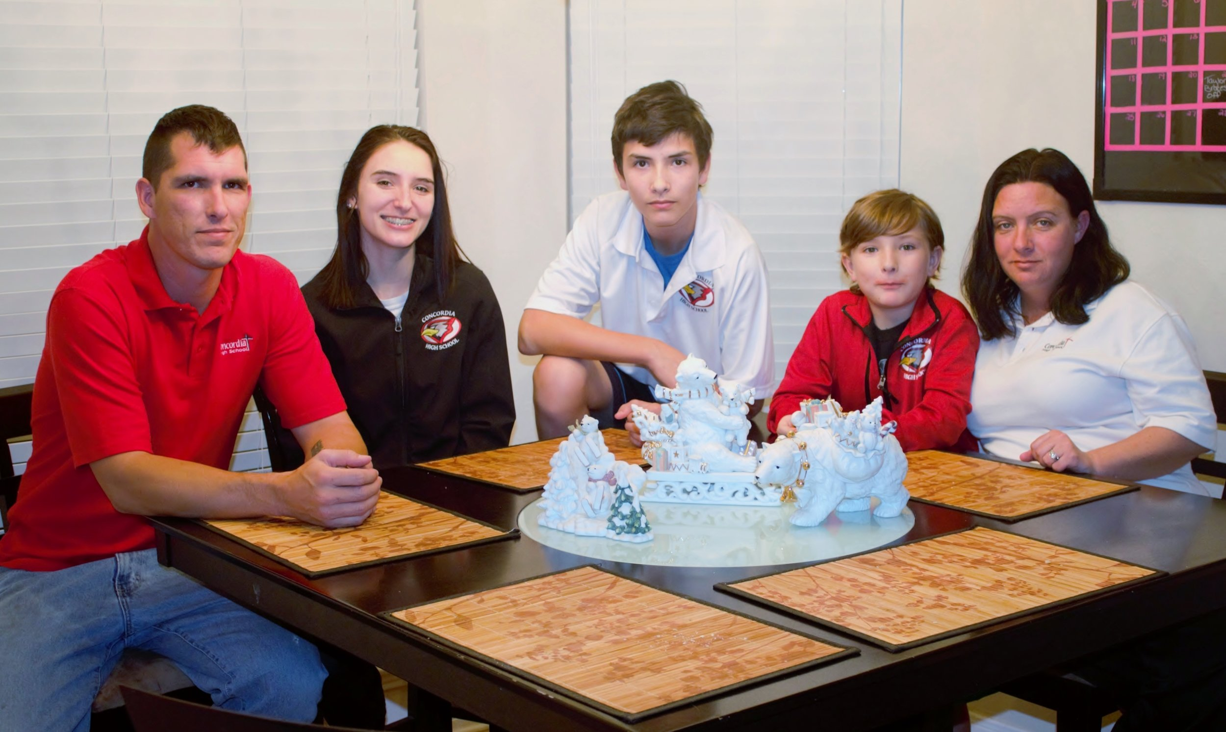 Nathan, Taylor (11th grade), Devin (9th grade), Dominic (5th grade) and Anne