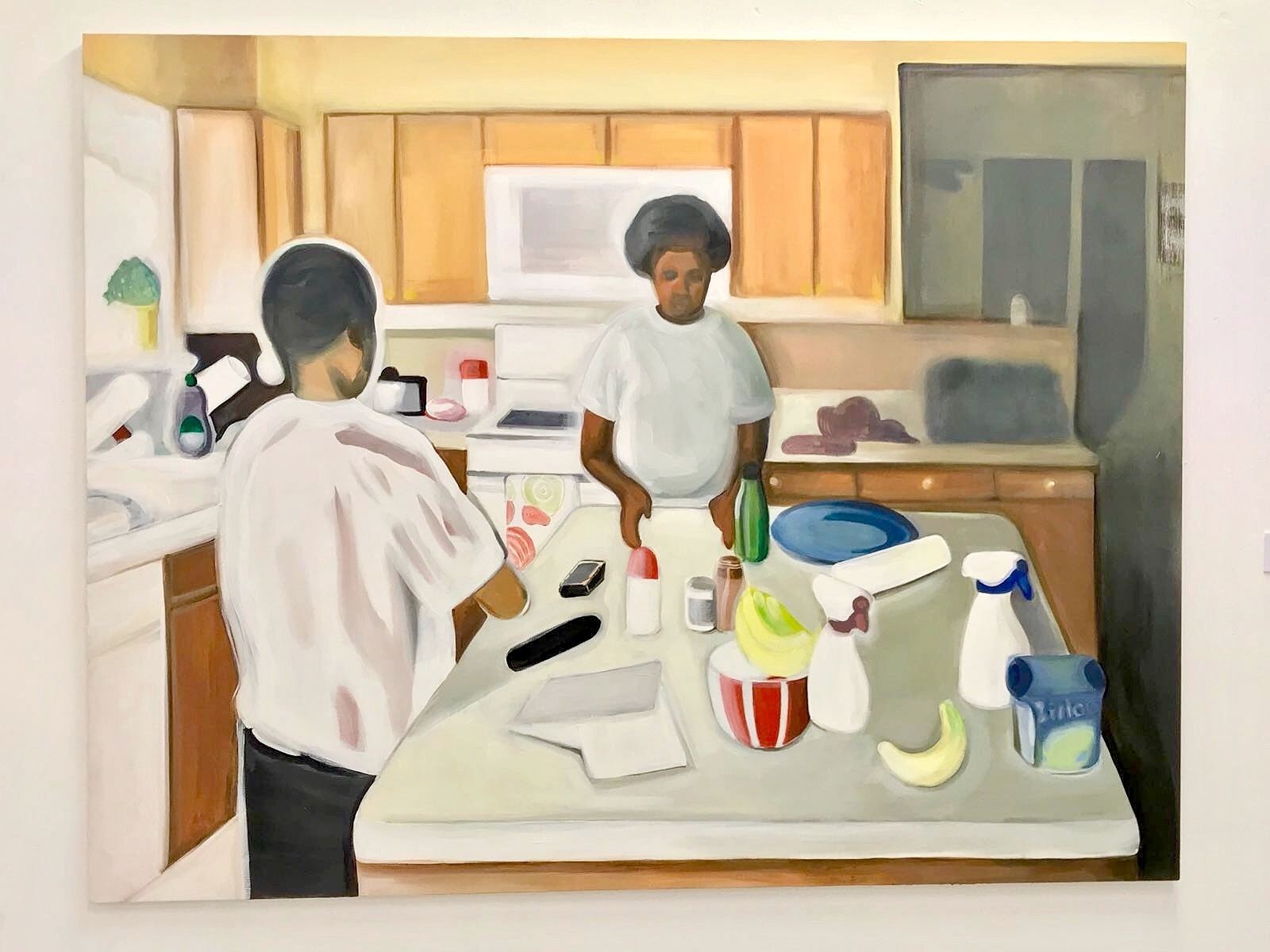 The Kitchen,  2018 Oil on canvas 55 x 71 inches 140 x 180 cm