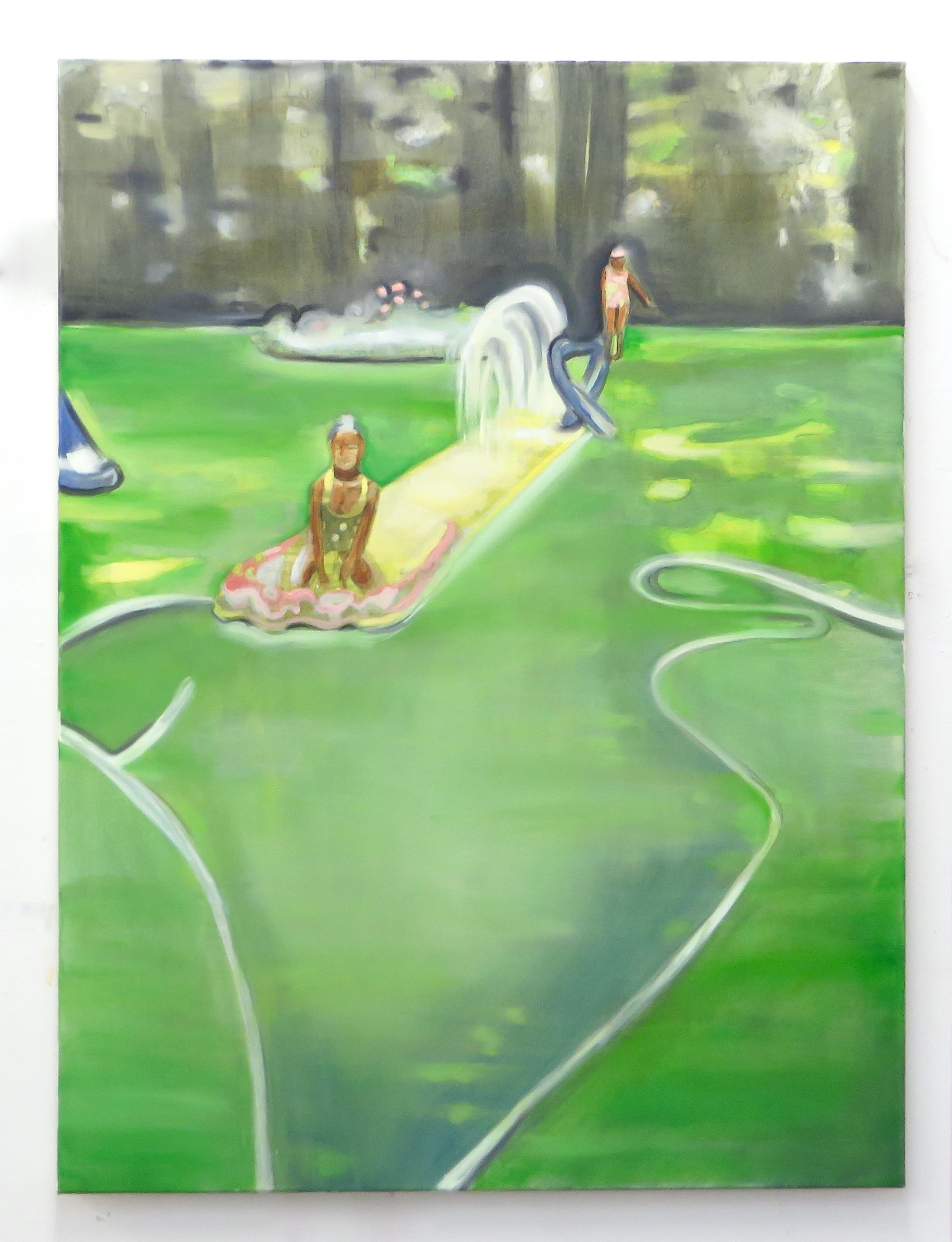 Slip n Slide , 2017 Oil on canvas 40 x 30 inches 100 x 76 cm