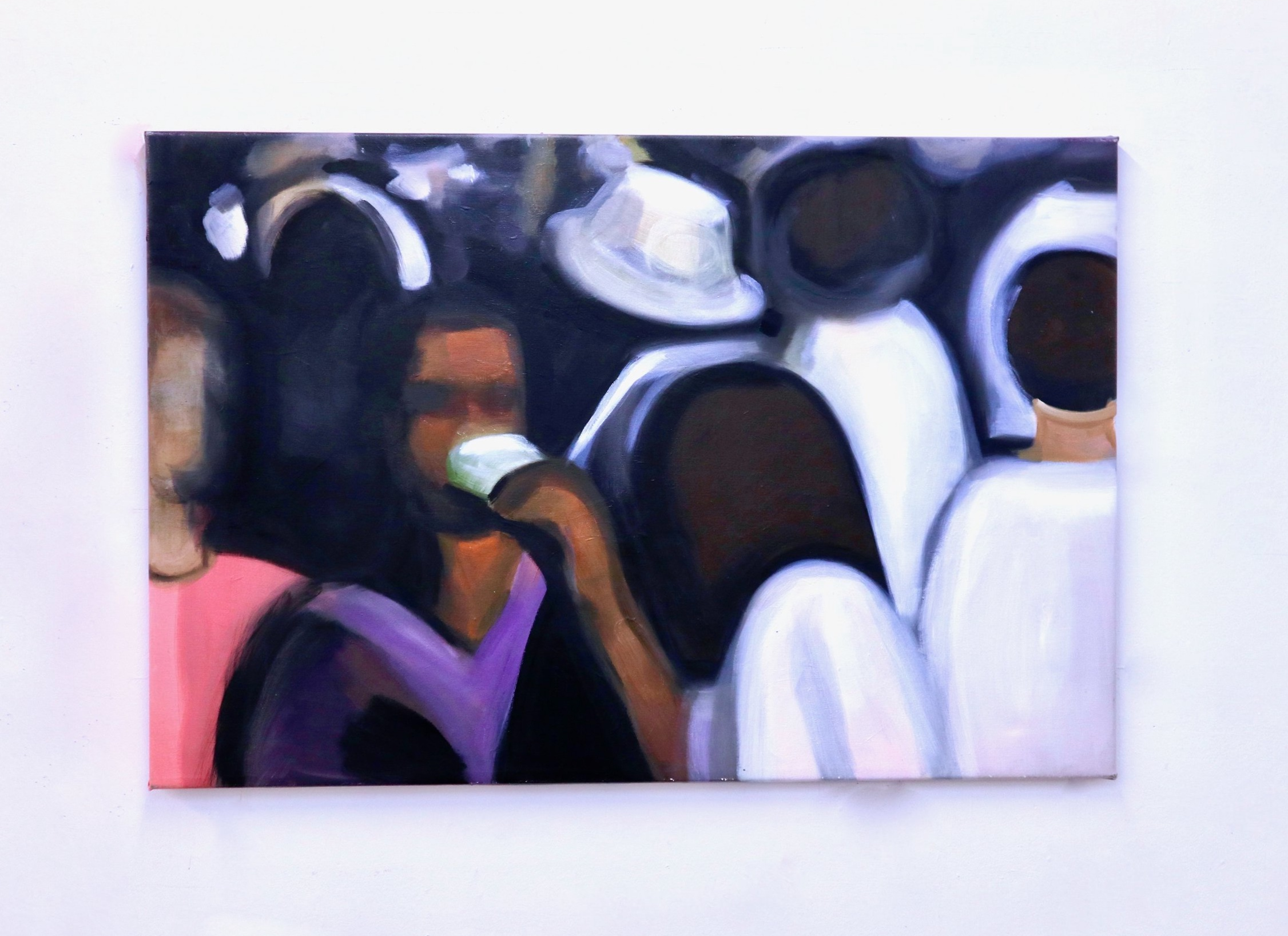 Drinks , 2019 Oil on canvas 90 x 135 cm 35.4 x 53.1 inches