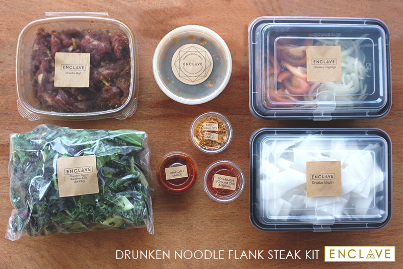 Drunken Noodle Kits! We do all the work, you make all the magic! In less than 15 minutes, you'll have a delicious homemade healthy meal! This kit for 2 persons is $24!