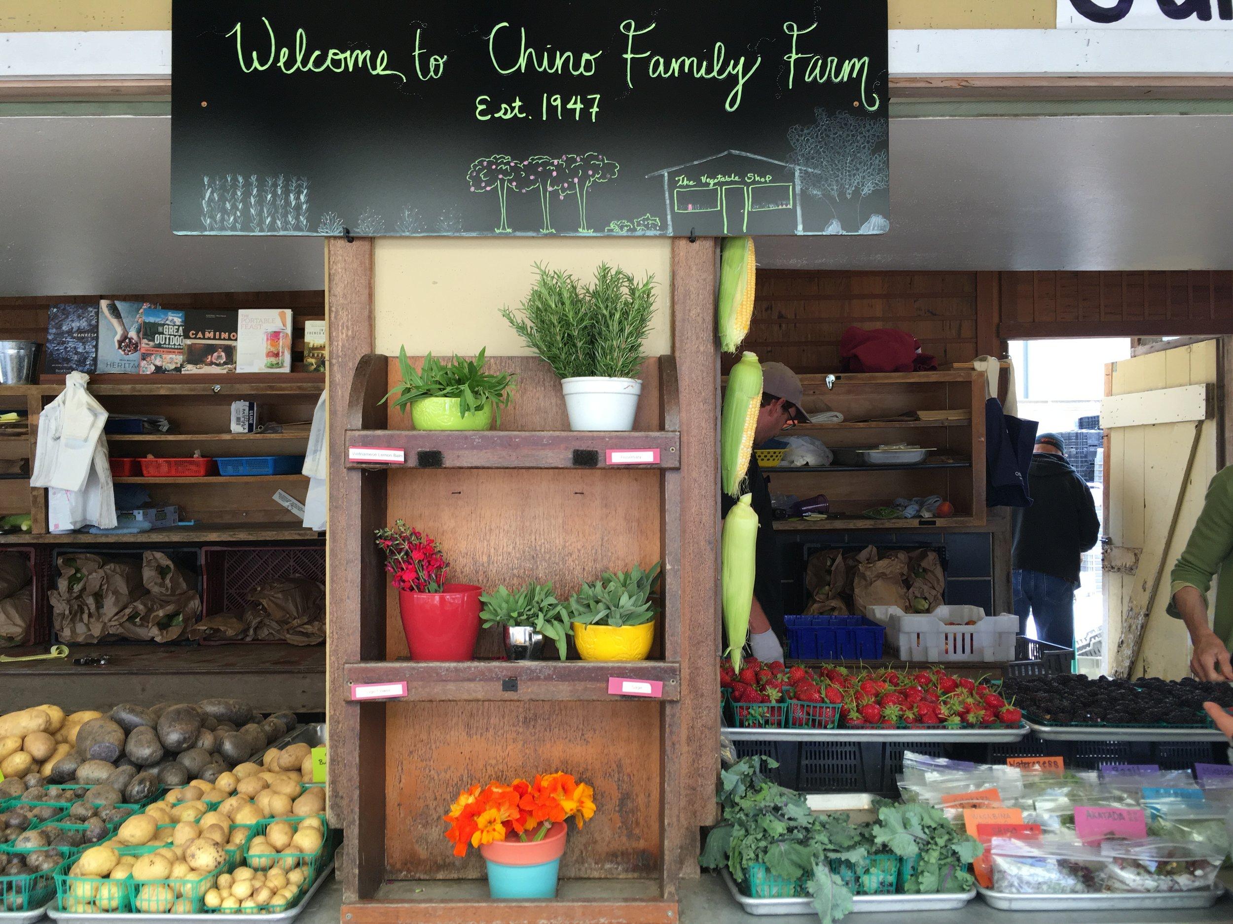 CHINO FAMILY FARM   WORLD-RENOWNED CHINO FAMILY FARM LOCATED IN RANCHO SANTA FE, CA.