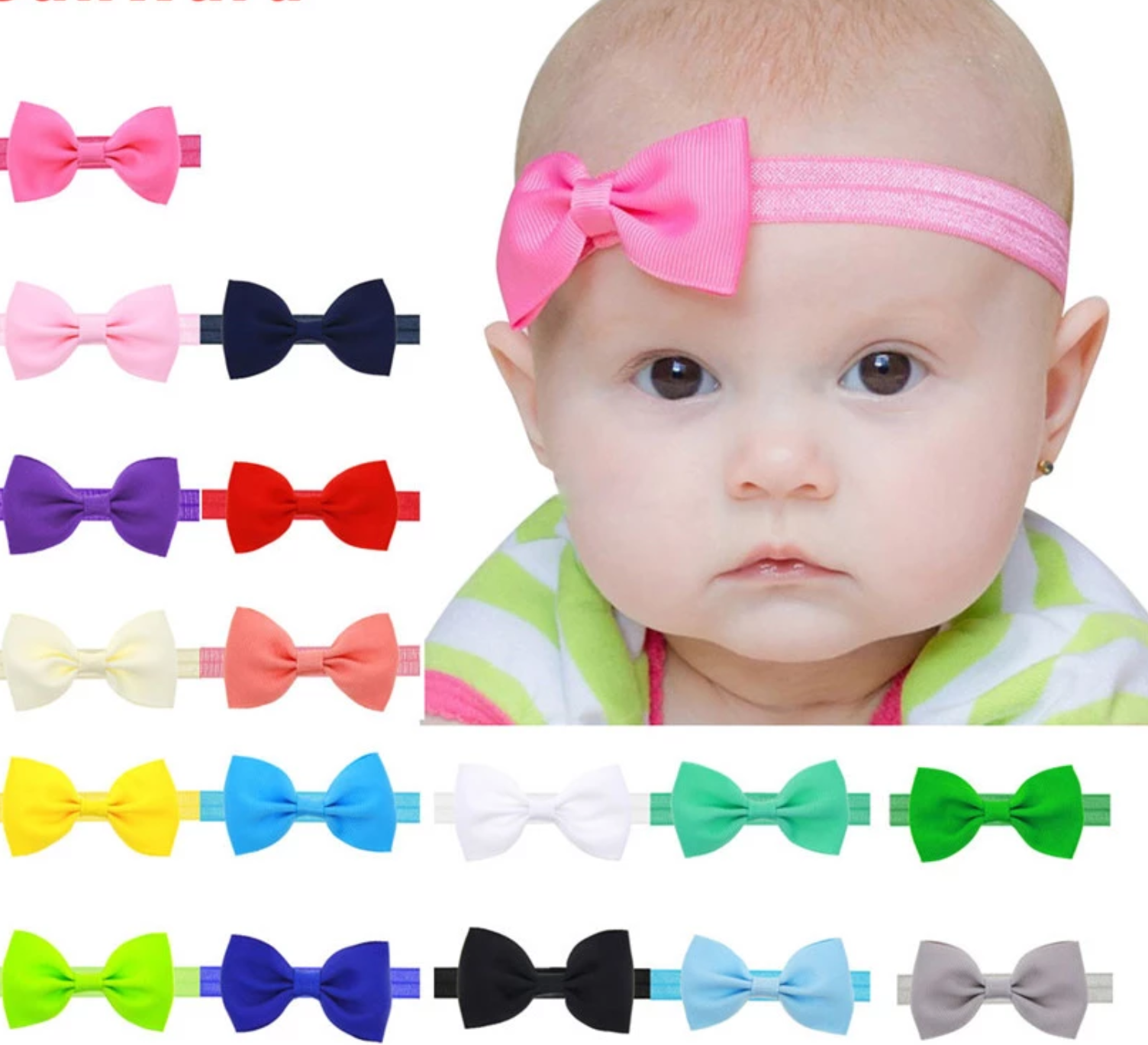 Soft Baby Headbands for delicate heads!    Suaves Moñitos de Nena para su delicada cabecita!