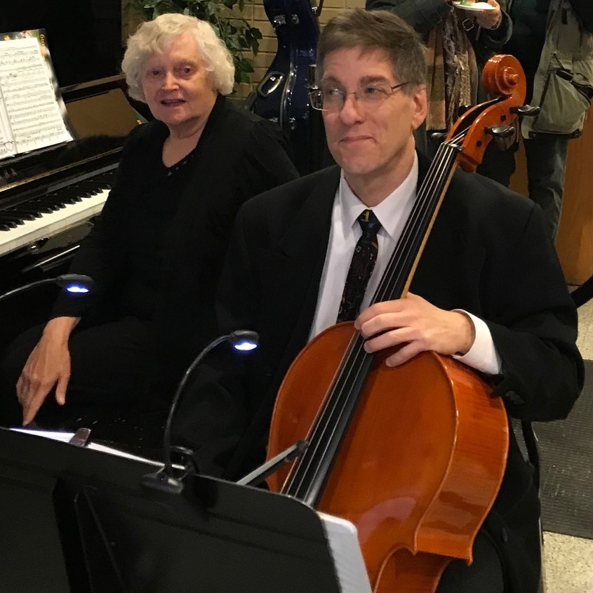 Cellist Howard Miller with guest pianist Kathy Rundell.