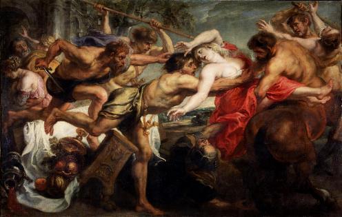 El rapto de Hipodamía (1636-1637), Rubens.