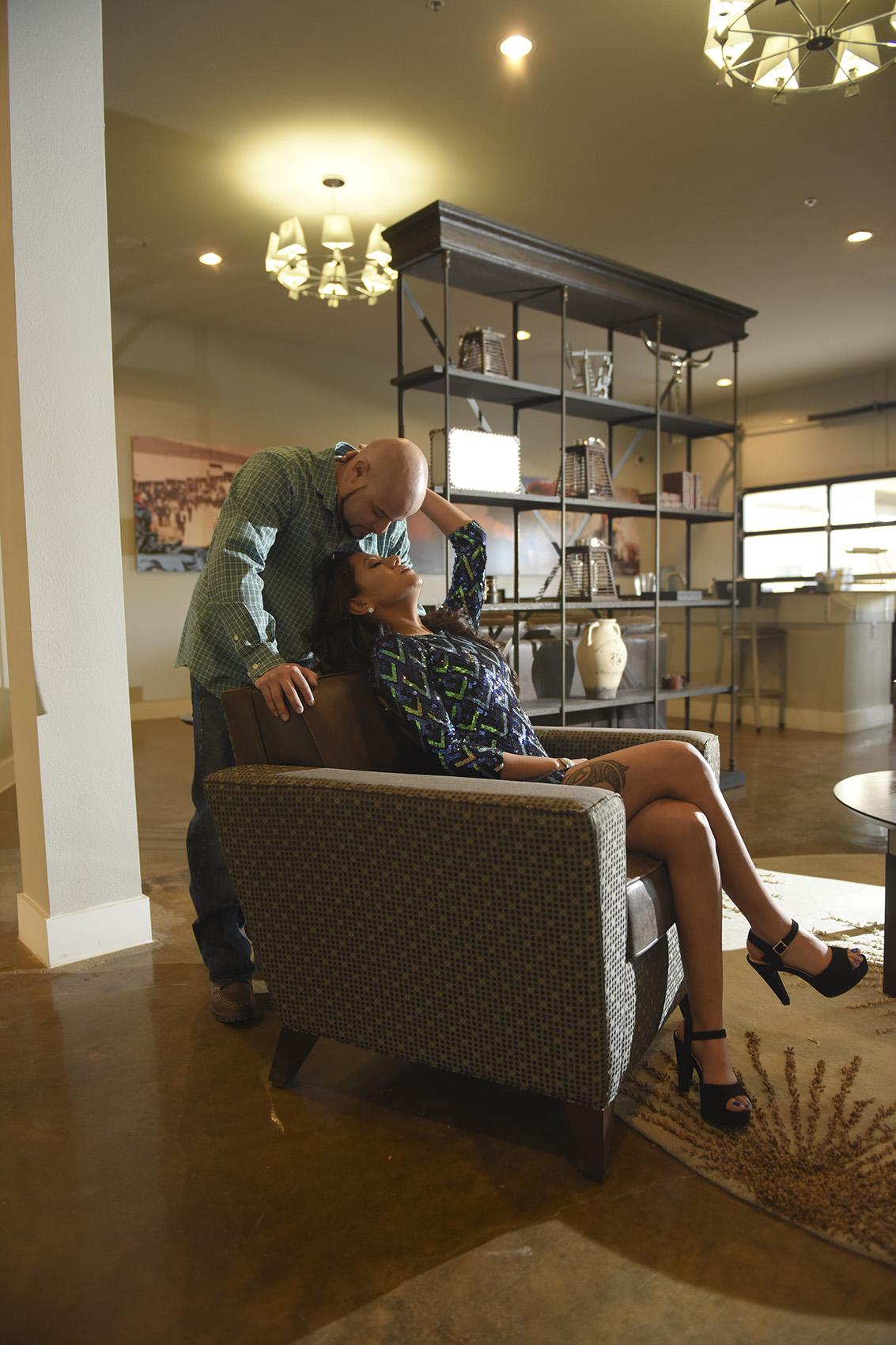 Houston Urban Creative Intimate Sexy Engagement photography