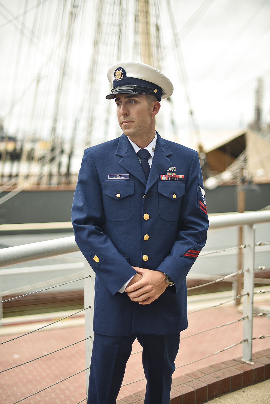 Houston Modern Classy Romantic Military Coastgaurd wedding