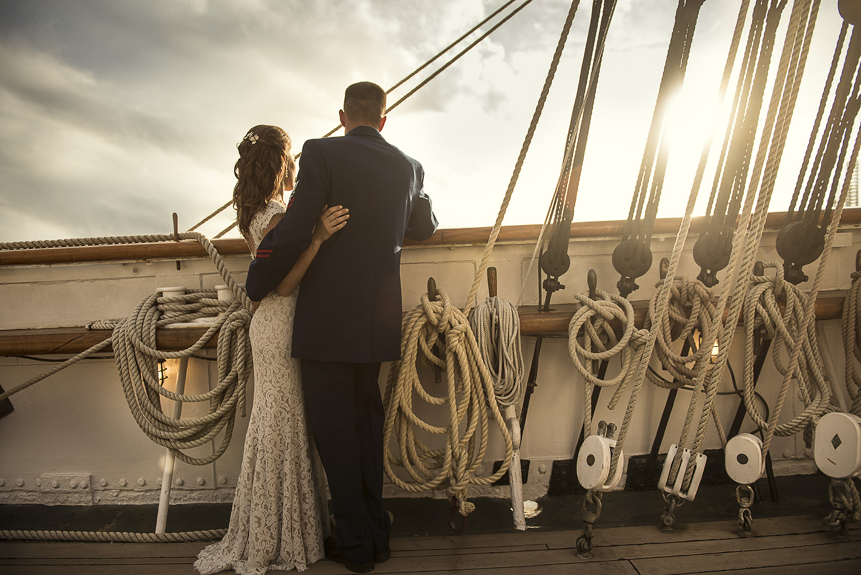 Houston Modern Classy Romantic Military Wedding Photography