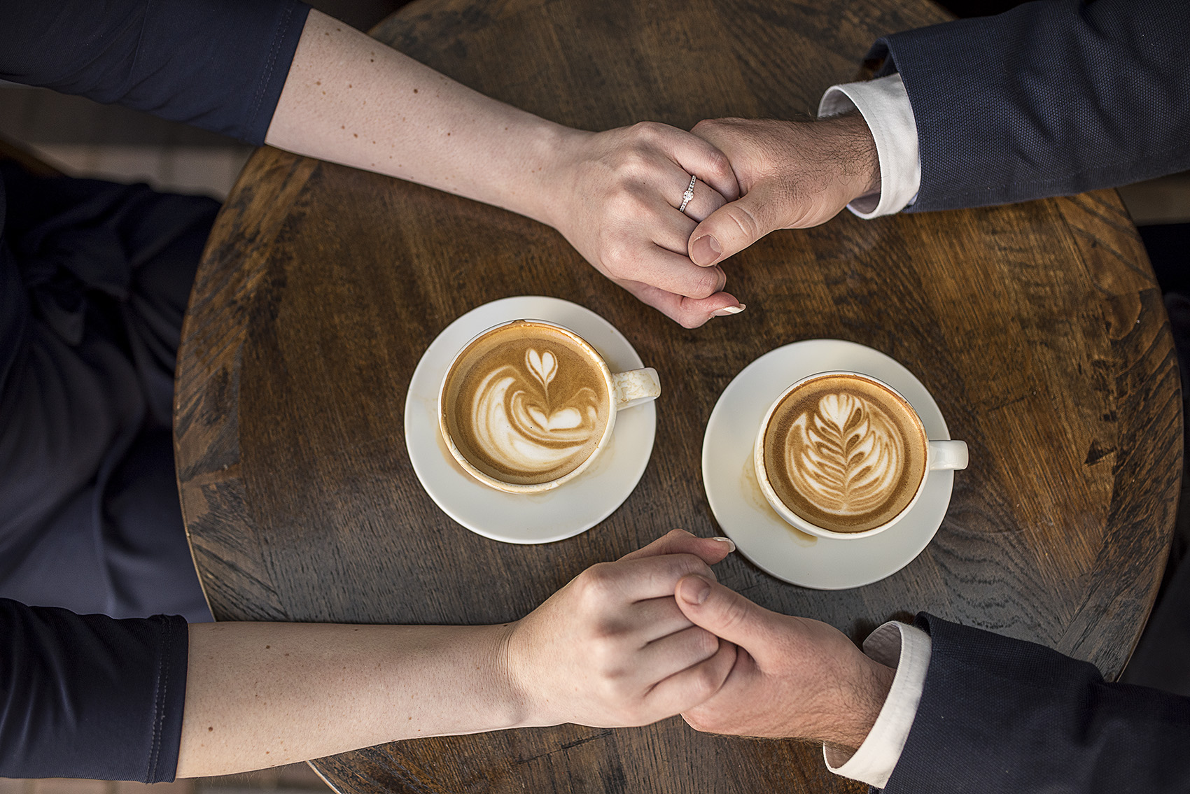 Houston Honeymoon cafe modern classy engagement photography
