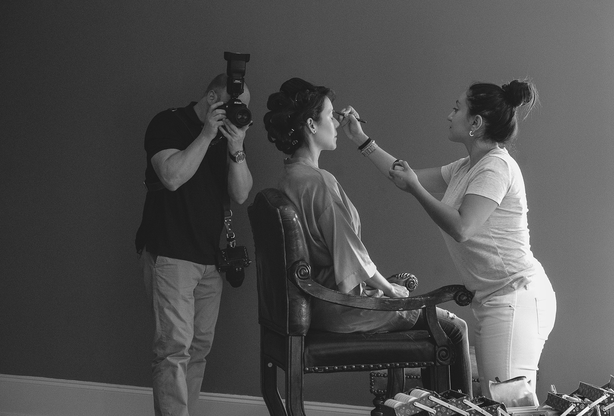Behind the scenes of me getting Marlene Gallegos working her magic.