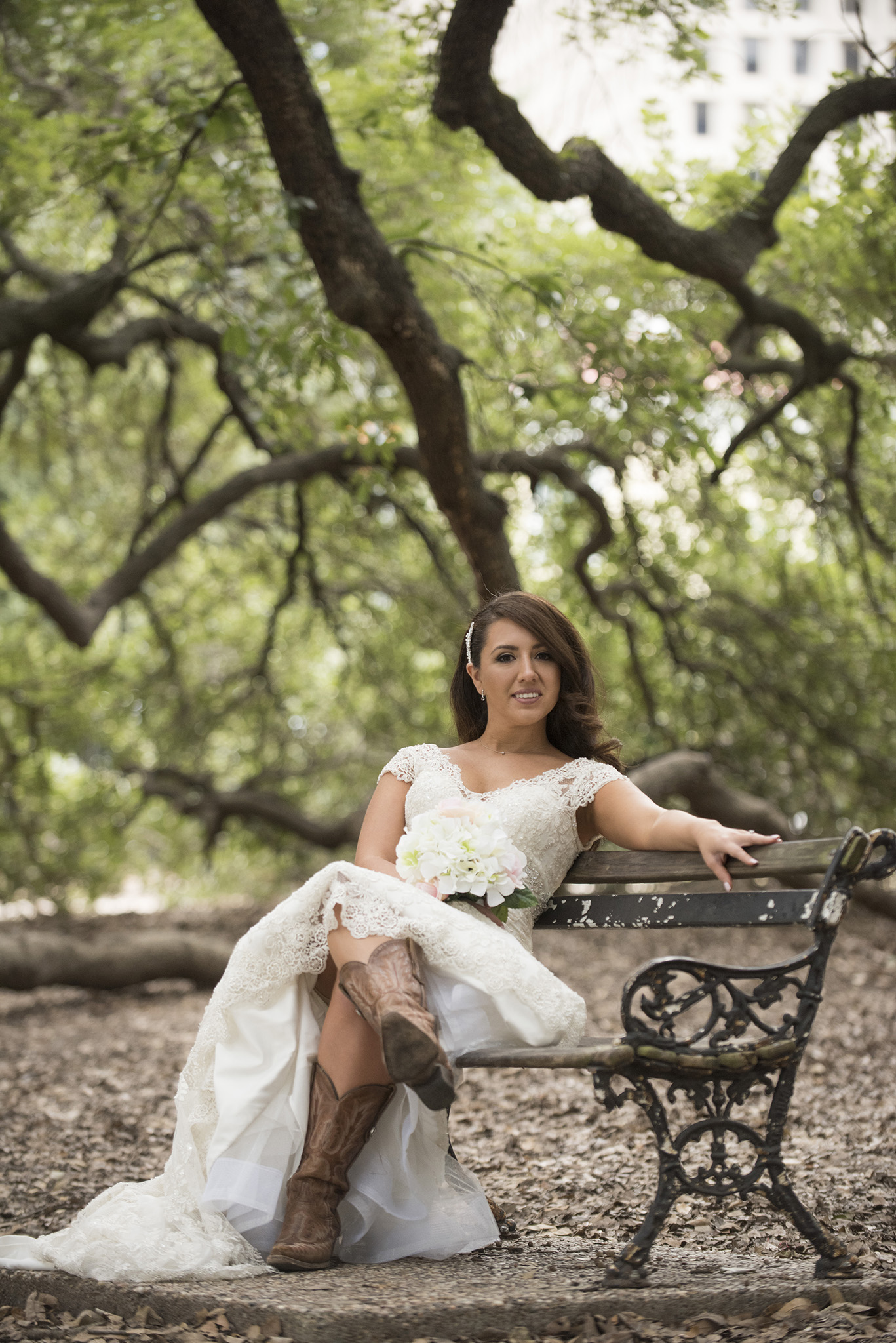 Rustic vintage historic houston texas bridal photography