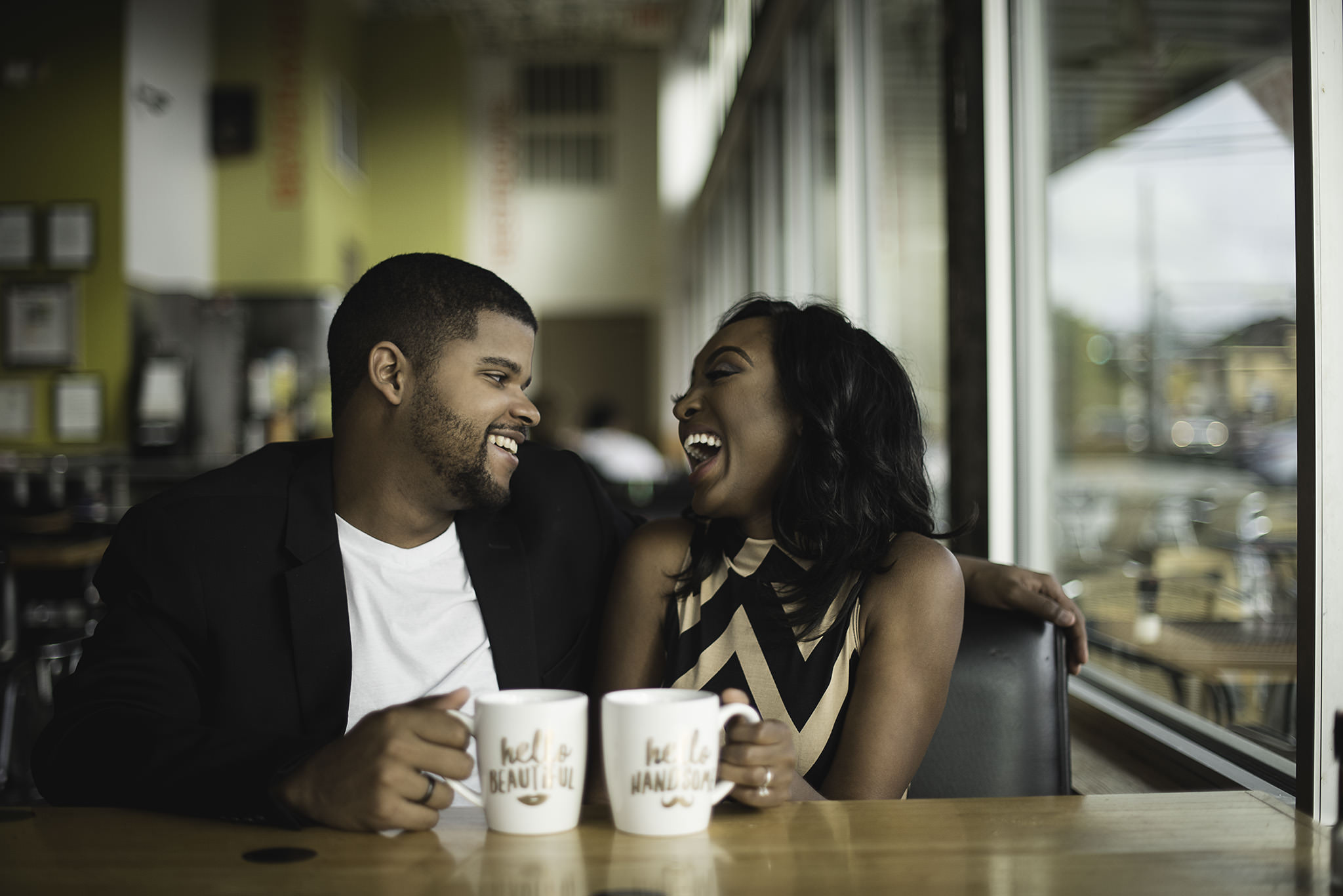 Houston-heights-cafe-engagement-session
