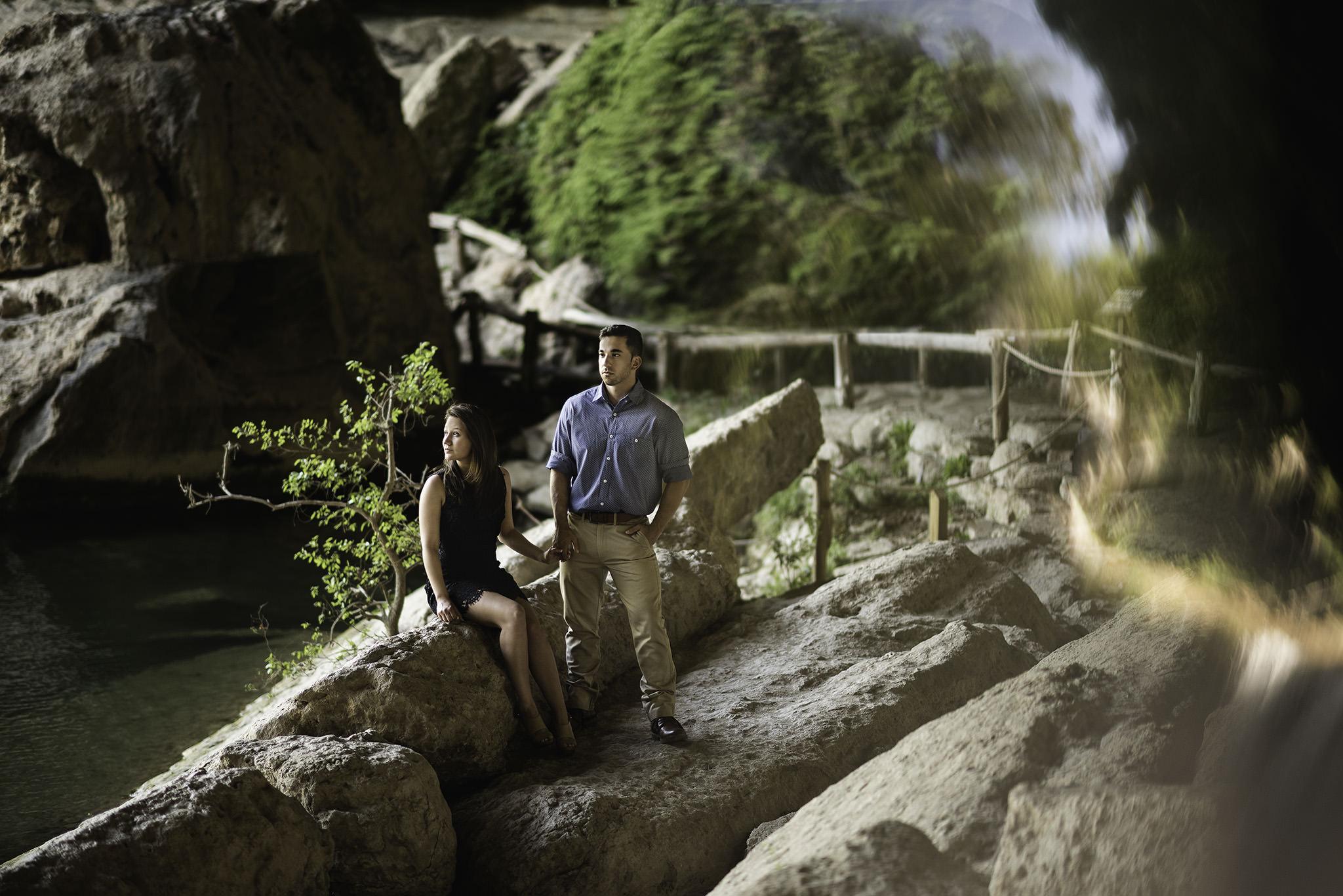 Houston-adventure-hamilton-pool-outdoor-engagement-session-photographer