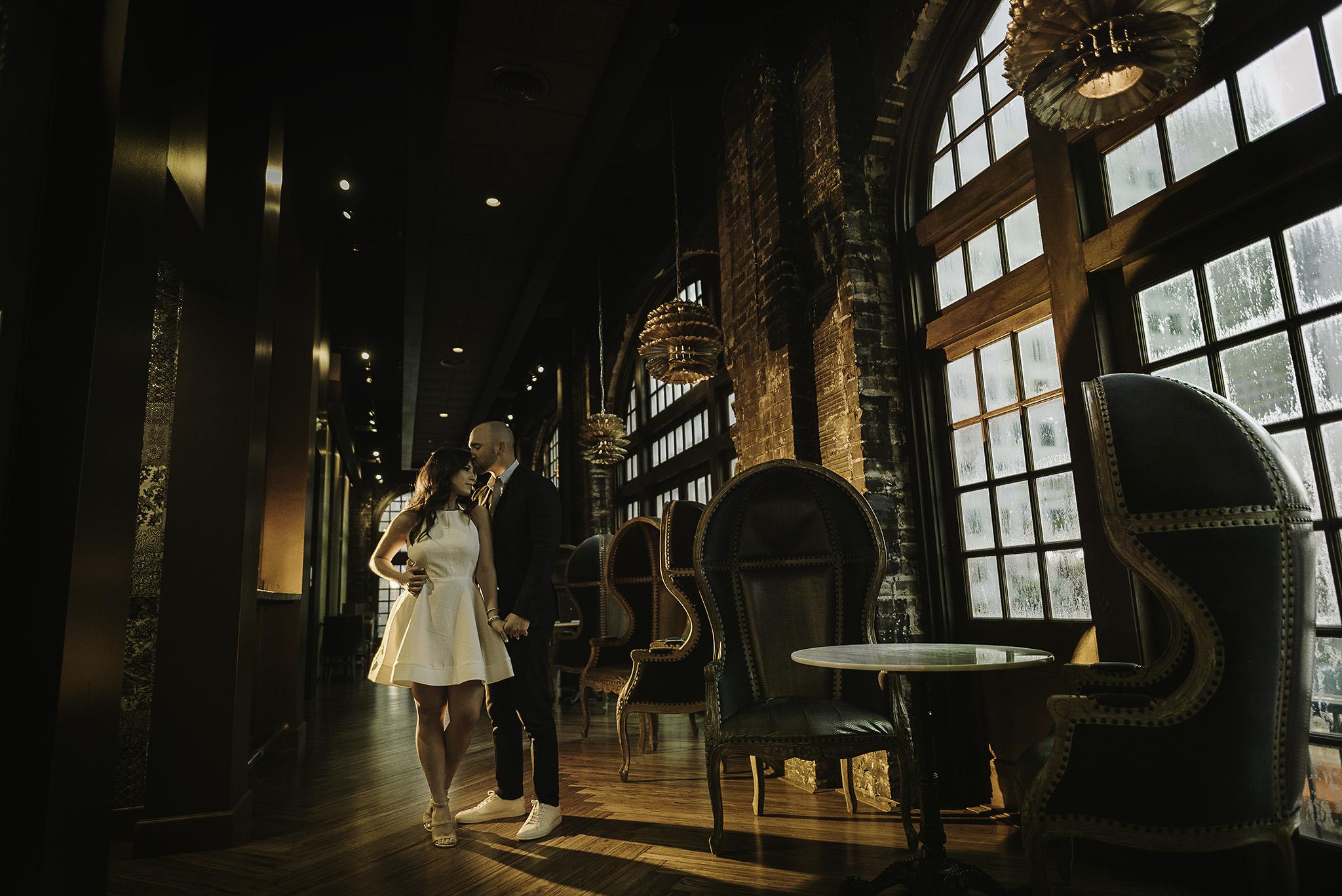 Houston-Lawless-Spirits-kitchen-crystal-ballroom-rice-initmate-historic-lifestyle-engagement-photography-session