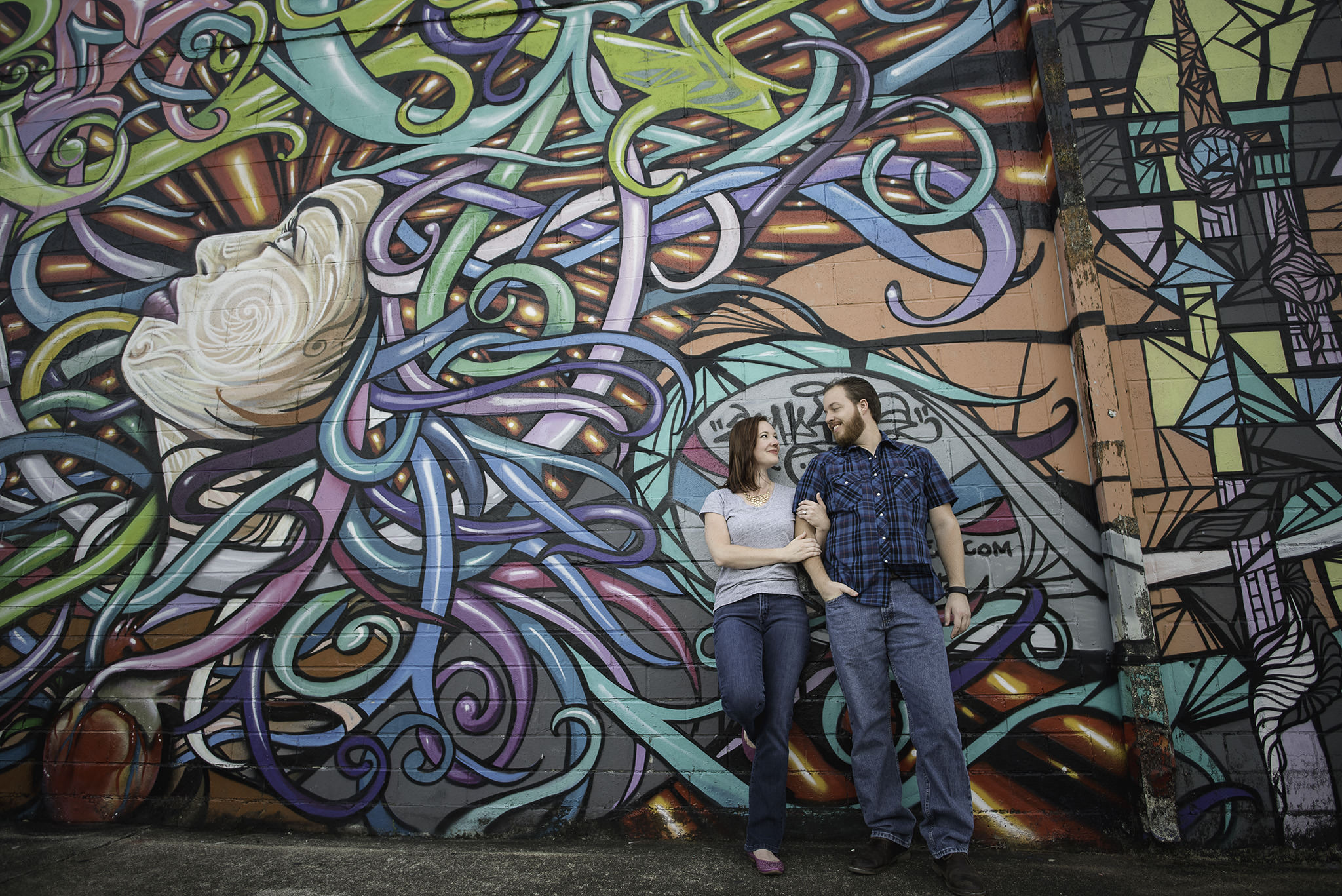 Houston-graffiti-wall-colorful-engagement-session-photography