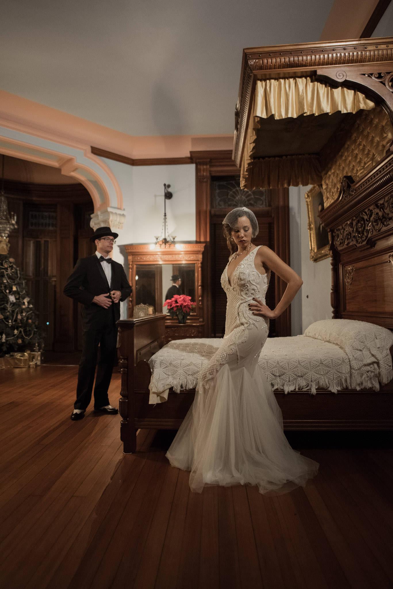 Galveston-bishops-palace-vintage-historical-engagement-photographer