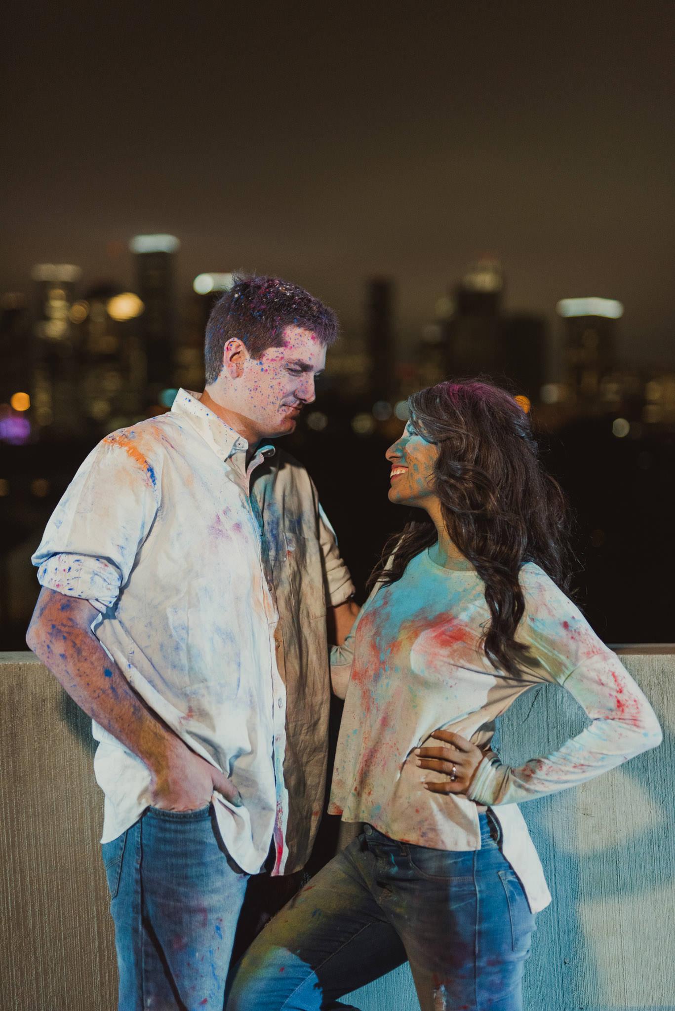 Houston-holi-powder-color-engagement-fun-fight-night