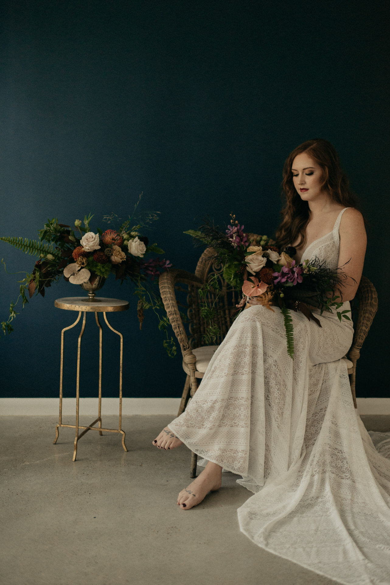 moody-fall-styled-photo-session-red-hair-woodlands-oak-atelier-whimsical-events-bridal-unbridaled-wedding-dress